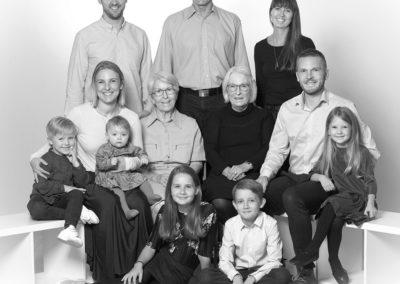 Gruppefoto i sort hvid