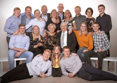 Gruppefoto flere generationer
