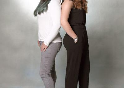Unge foto med to unge piger