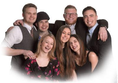 Unge foto gruppe foto med udtonet kant