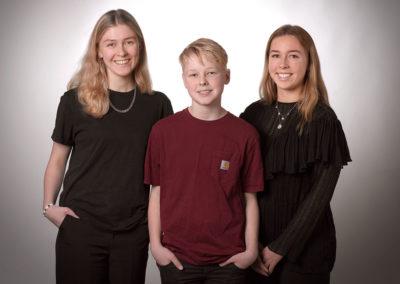 Unge foto med tre unge mennesker