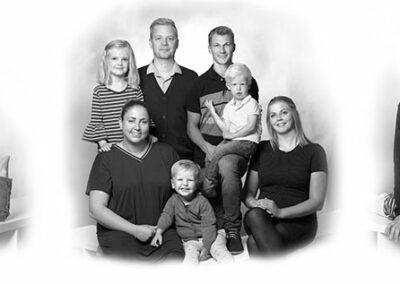 collage familiebilleder