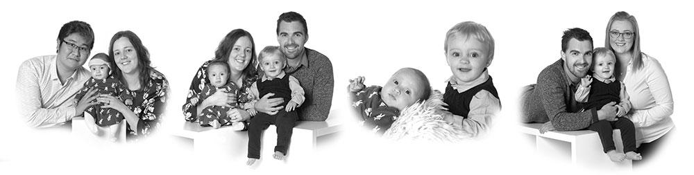 collage med 2 familier