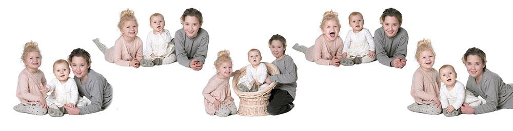collage af 3 børn