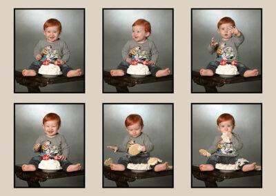 collage dreng spiser kage