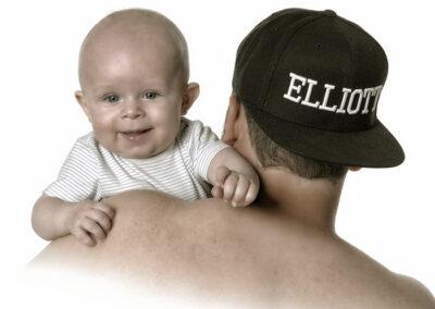 månedsbilleder foto af far og søn