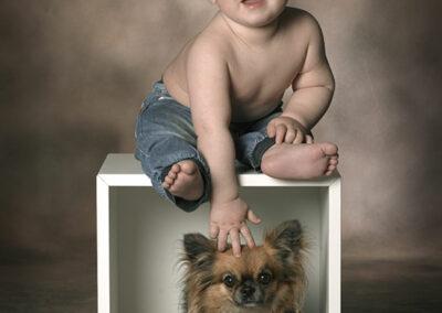 månedsbilleder ad dreng med hund
